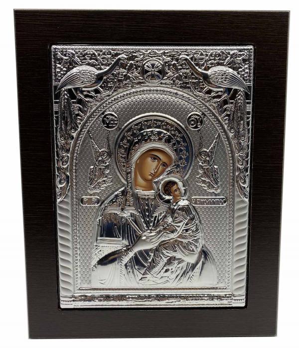 Cadou Paste Icoana Maica Domnului si Pruncul Argint-big