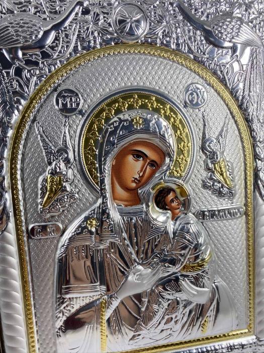 Icoana Maica Domnului si Pruncul Iisus placata cu Argint si Aur [3]