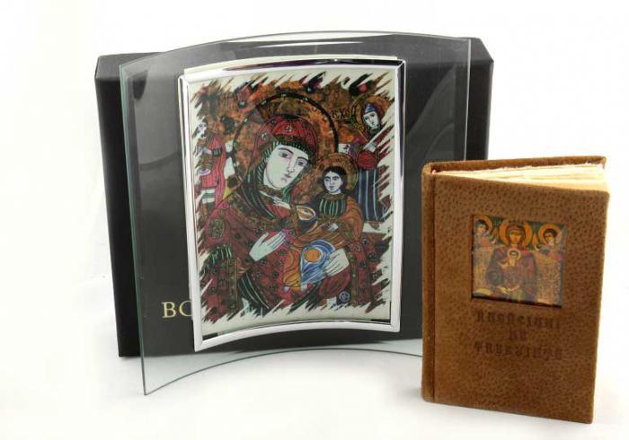 Cadou Icoana Maica Domnului si carte Rugăciuni pentru toata ziua 0