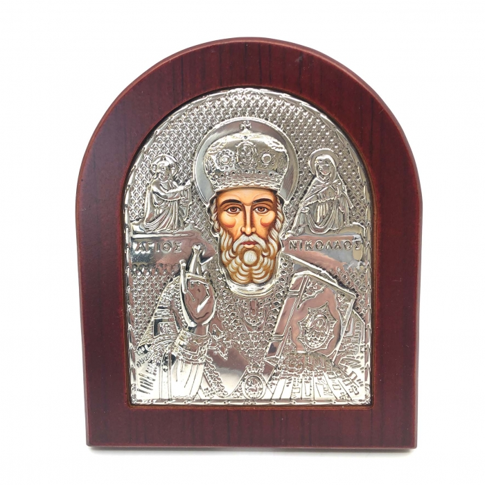 Icoana Sf. Nicolae placata cu aur si argint [0]