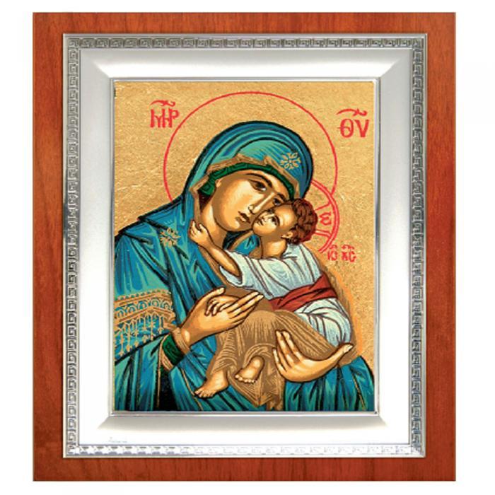 Icoana Maica Domnului si Pruncul Iisus placata cu aur - Credan, made in Spain 2