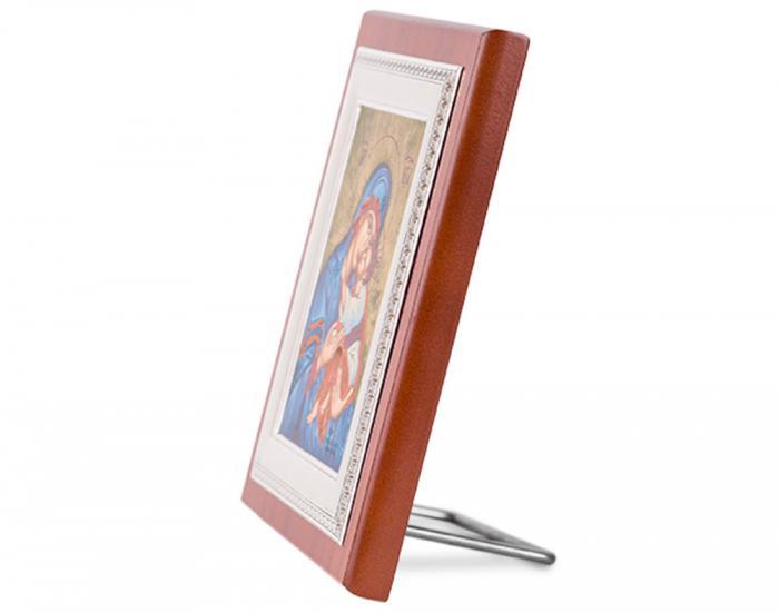 Icoana Maica Domnului si Pruncul Iisus placata cu aur - Credan, made in Spain 1