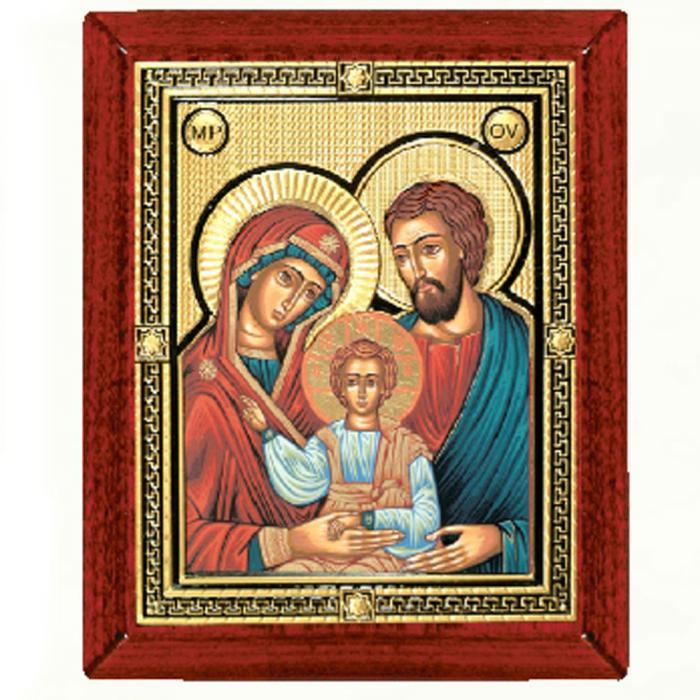 Icoana Sfânta Familie, by Credan placata cu aur - made in Spain 3