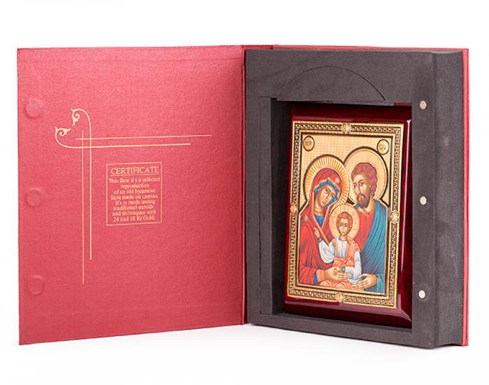 Icoana Sfânta Familie, by Credan placata cu aur - made in Spain 1