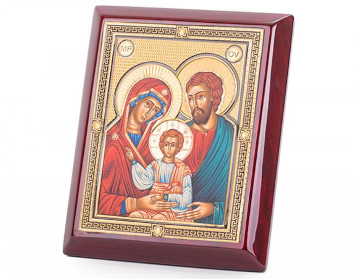 Icoana Sfânta Familie, by Credan placata cu aur - made in Spain 0