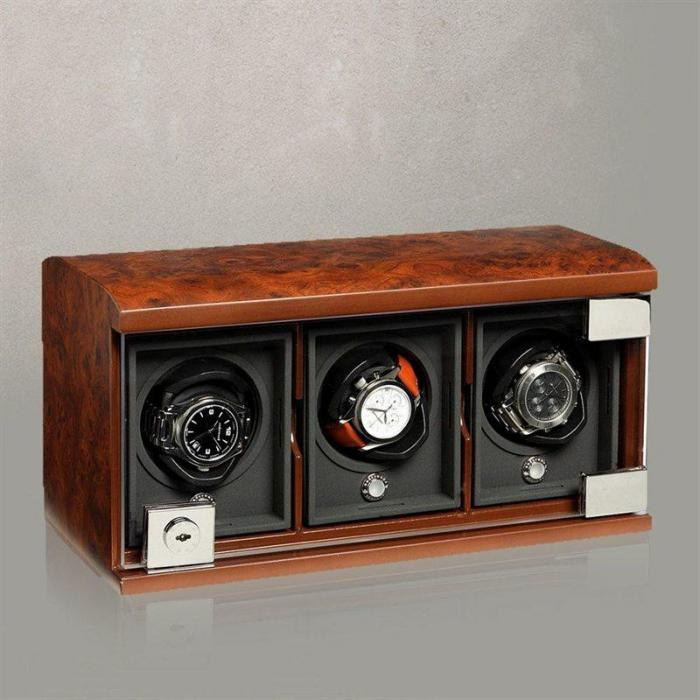 Watch Winder The Three-Module Unit - Briarwood by Underwood – Made in Italy-big