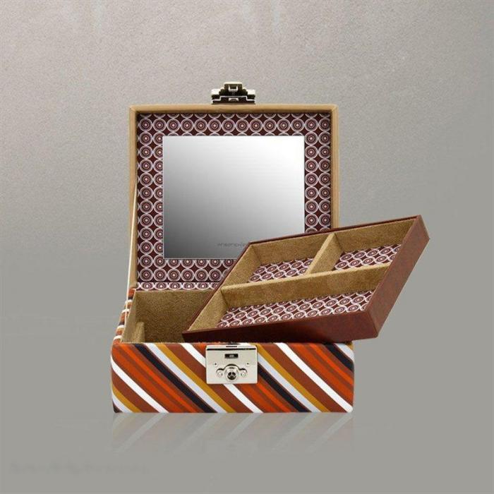Cutie pentru Bijuterii Diagona L Maro de la Friedrich – Produs în Germania-big