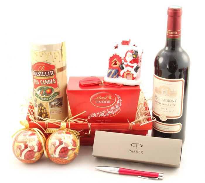 Coş Cadou Craciun Red Santa 0