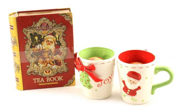 Cadou Crăciun Basilur Tea Book & Set Căni Festive 2