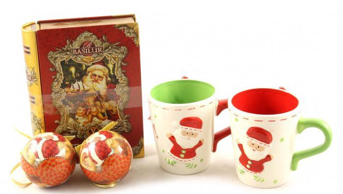Cadou Crăciun Basilur Tea Book & Set Căni Festive 0