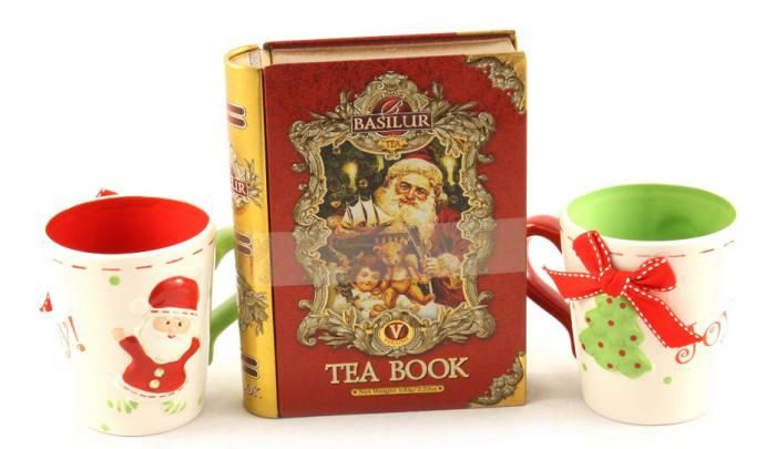Cadou Crăciun Basilur Tea Book & Set Căni Festive 1