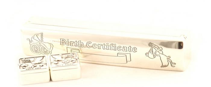Cadou Botez Argintat pentru Certificat, Prima Buclă si Primul Dinţişor 2