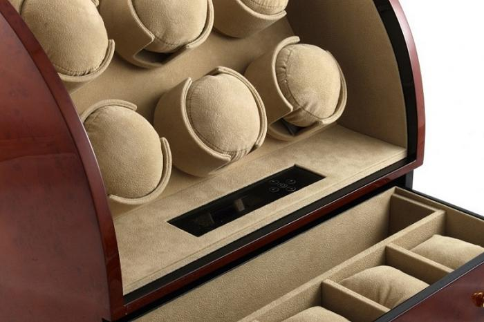 Watch Winder Basel 6 BROWN by Designhütte – Made in Germany-big
