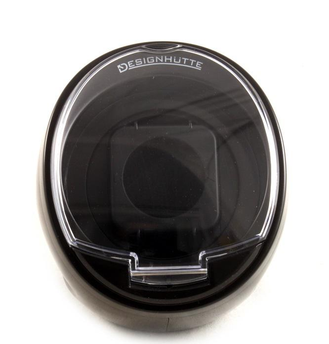 Watch Winder by Designhutte seria Optimus Black - Made in Germany-big