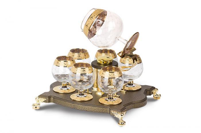 Incalzitor de Lux pentru Cognac Bonaparte cu 7 pahare by Credan - Made in Spain 2
