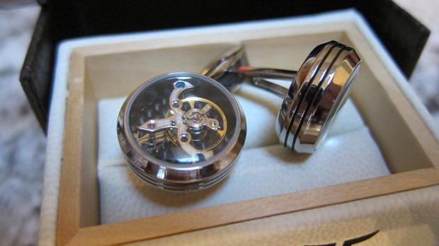 Butoni TF Est. 1968 Tourbillon Luxury - Placaţi cu aur roz - Made in Switzerland 5