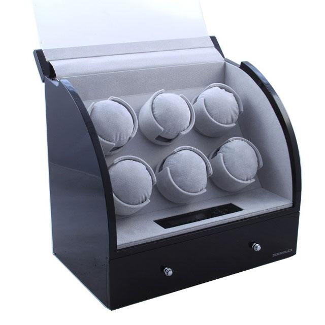 Watch Winder Basel 6 BLACK by Designhütte – Made in Germany- personalizabil 5
