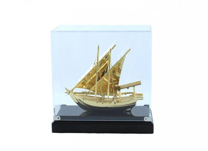 Macheta Gold Ship Glass 24 carate 2