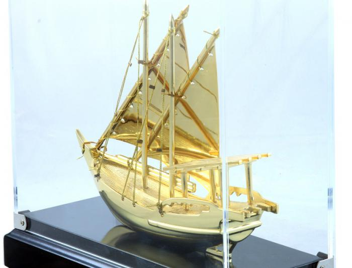 Macheta Gold Ship Glass 24 carate 1