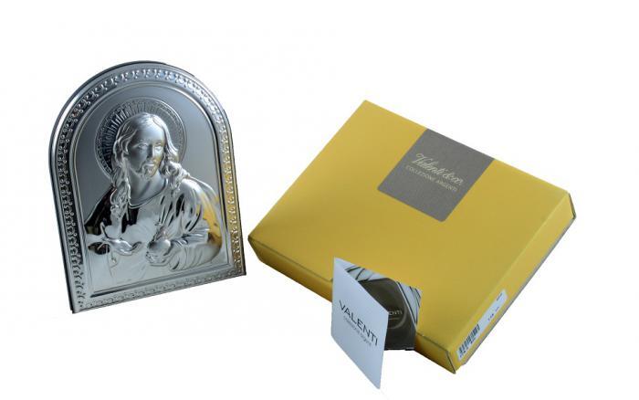 Icoană Argint Iisus Hristos by Valenti - Made in Italy-big