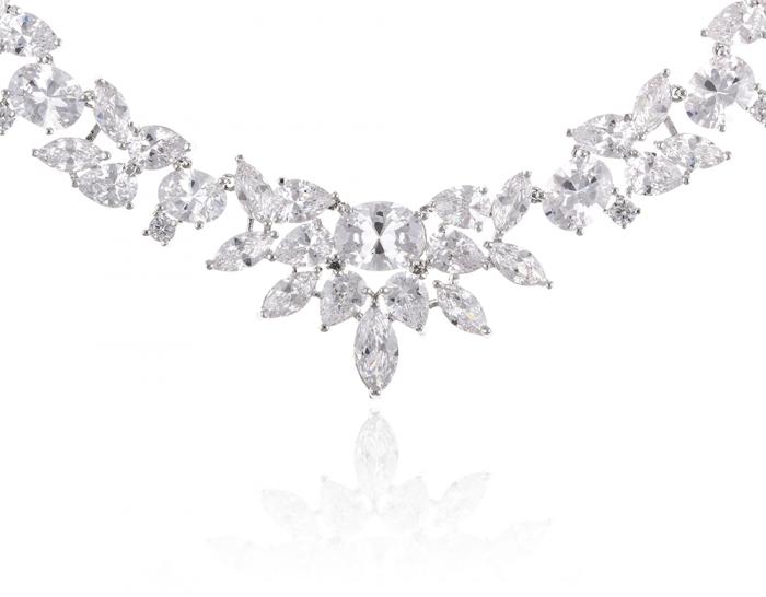 Set Cercei şi Colier Luxury Bridal Borealy 4