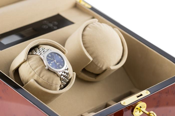 Watch Winder München Brown 2 by Designhütte - Made in Germany - personalizabil-big