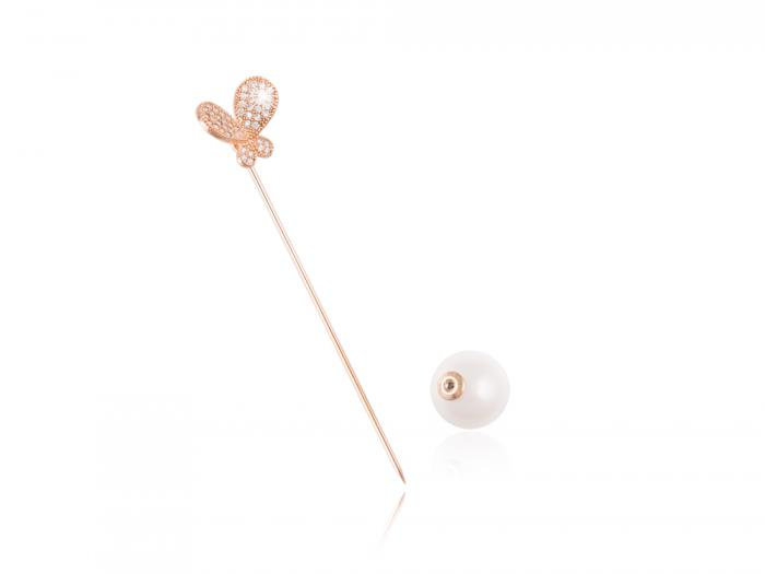 Brosa Borealy Gold Butterfly Pin 1