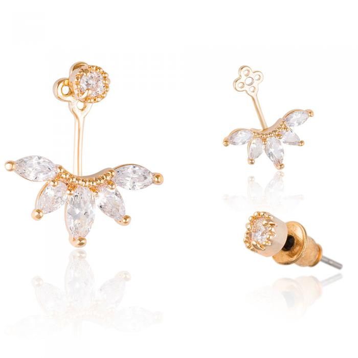 Cercei Borealy Crystal Gold Anchor-big