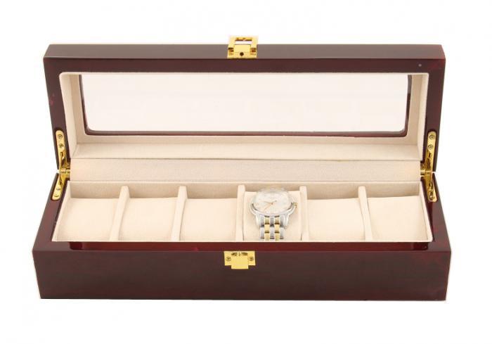 Cutie 6 Ceasuri Lemn Luxury - personalizabil 0