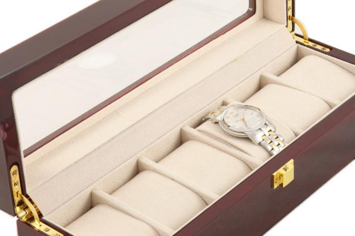 Cutie 6 Ceasuri Lemn Luxury - personalizabil-big