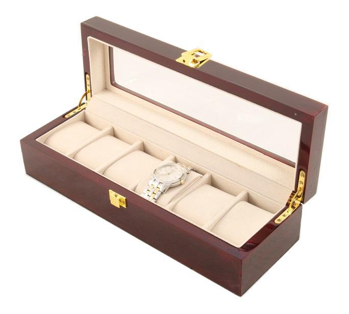 Cutie 6 Ceasuri Lemn Luxury - personalizabil 2