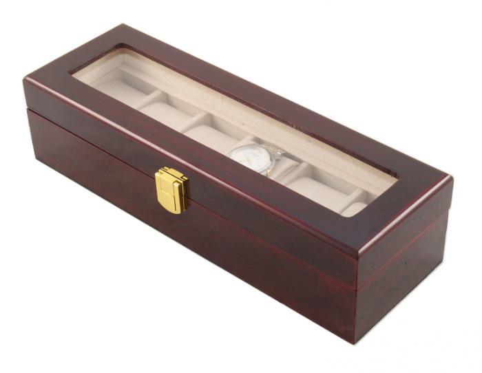 Cutie 6 Ceasuri Lemn Luxury - personalizabil 1