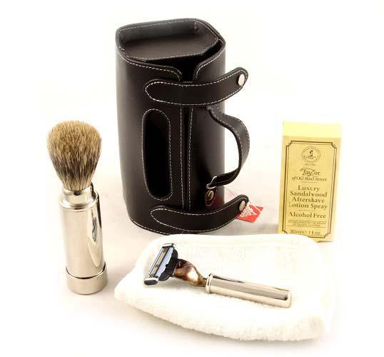 Set Barbierit Luxury Rasier in Lendertasche - Made in Germany 3