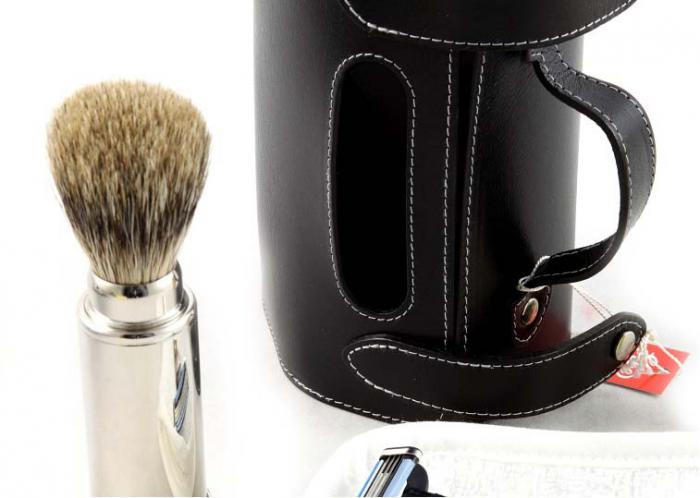 Set Barbierit Luxury Rasier in Lendertasche - Made in Germany 2