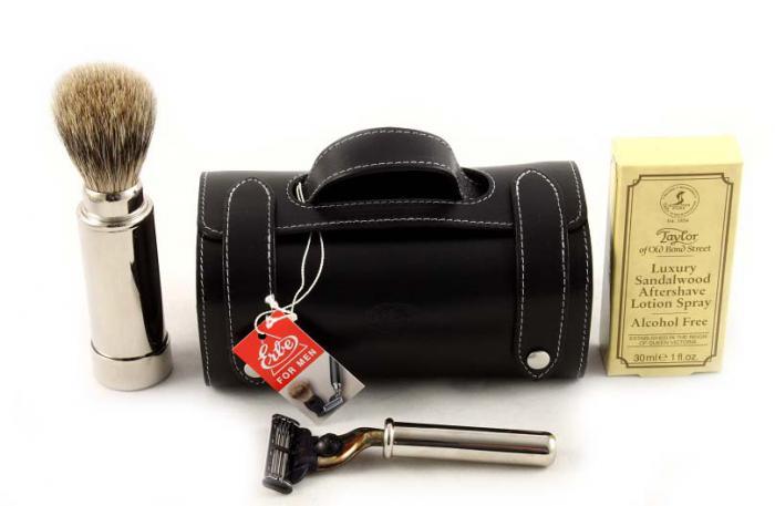 Set Barbierit Luxury Rasier in Lendertasche - Made in Germany 4