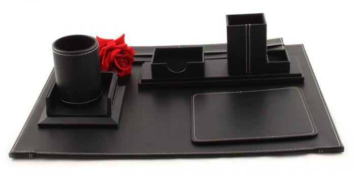 Business Desk Multi Black Leather-big