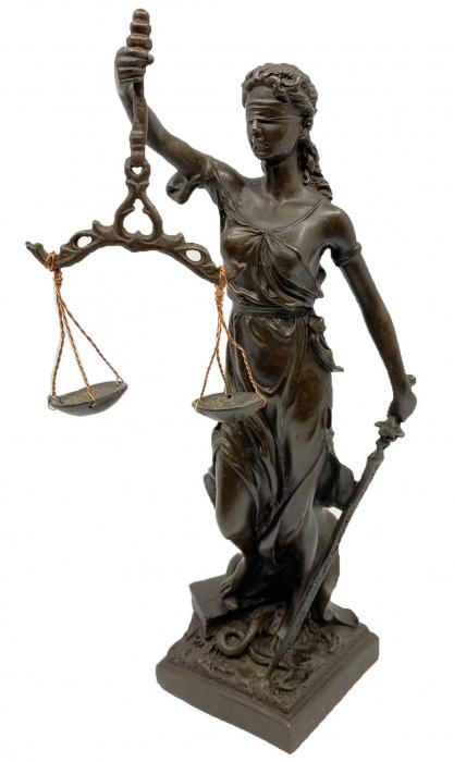 Statueta Zeita Justitiei, Bronz, 27 cm, Black 0