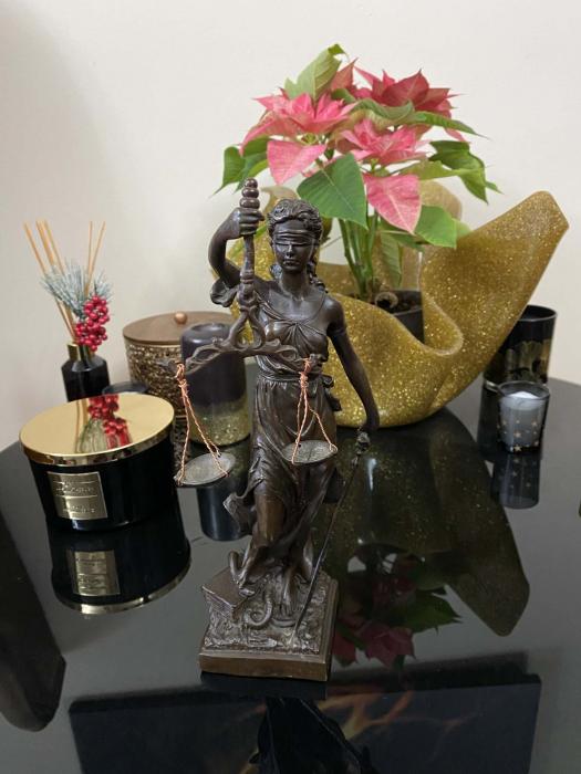 Statueta Zeita Justitiei, Bronz, 27 cm, Black 1