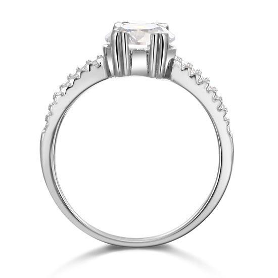 Inel Borealy Argint 925 ONE Zirconiu Simulated Diamond Solitaire Marimea 6-big