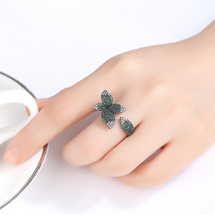 Inel Leaf Black Luxury 0