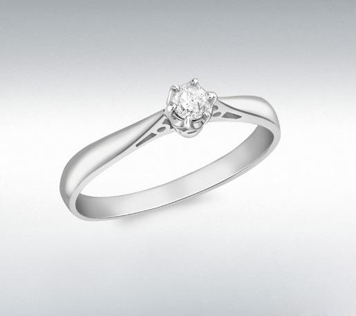 Inel Logodna Diamant Natural 0.10 carate din Aur 18 carate-big