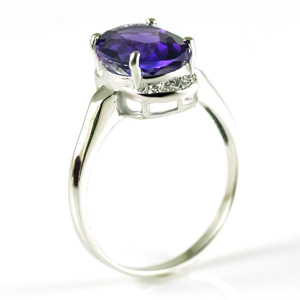 Inel 3 Carate Ametist Luxury & 925 Silver - Mărime 6 2