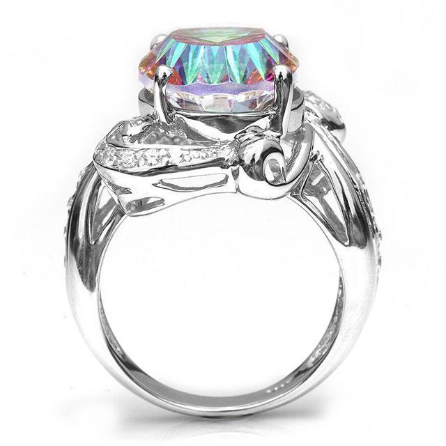 Inel Amazing Fire Rainbow Topaz Mistic 8 carate Argint 925 marimea 7 5