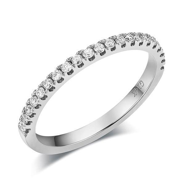 Inel Borealy Aur Alb 14 K Eternity Natural Diamonds Half Band-big