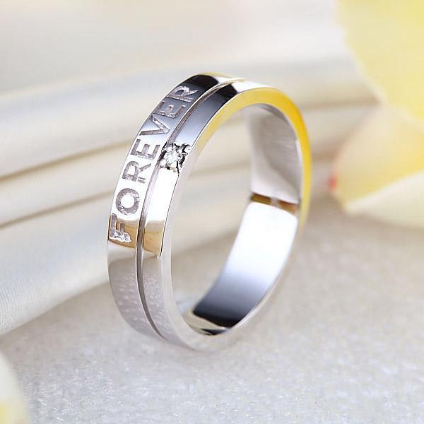 "Inel Borealy Aur Alb 14 K Natural Diamond Men's Style ""Forever""-big"