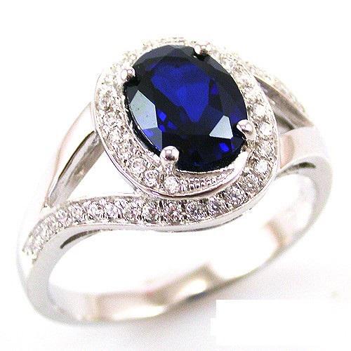 Inel Blue Safir by Borealy Argint 925-big