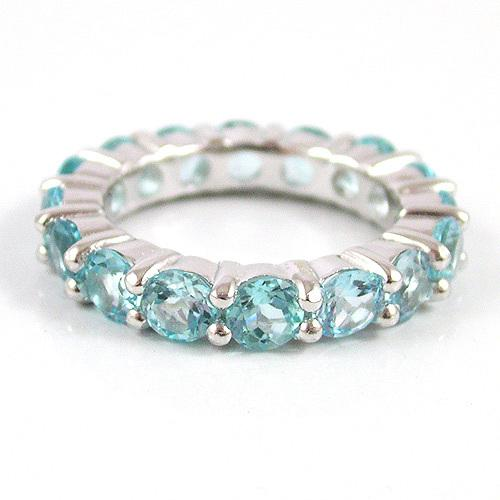 Inel Blue Topaz Natural Eternity 5 carate 1