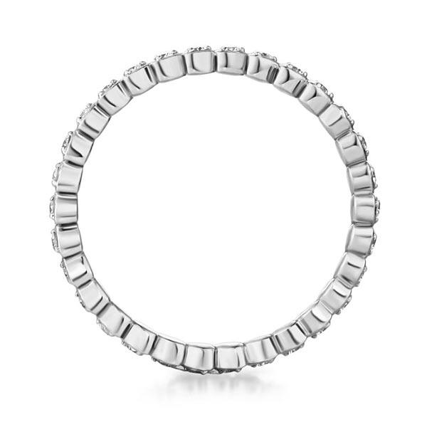 Inel Borealy Aur Alb 14 K Natural Diamonds Heart Eternity Band-big