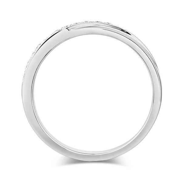 Inel Borealy Aur Alb 14 K Natural Diamonds Women's Style Twisted Band-big