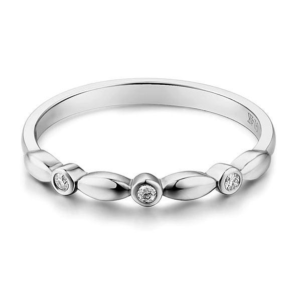 Inel Borealy Aur Alb 14 K Wedding Natural Diamonds String-big